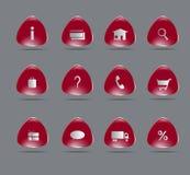 Online zakupy ikony Zdjęcia Stock