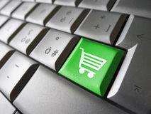 Online zakupy ikony Komputerowy klucz Obrazy Stock