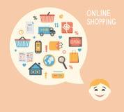 Online zakupy innowaci pomysł ilustracji