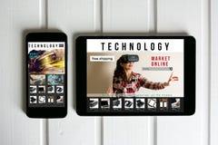 Online zakupy: online sklep, sprzedaż rzeczywistość wirtualna produkty Obraz Stock