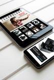 Online zakupy: online sklep, sprzedaż rzeczywistość wirtualna produkty Obraz Royalty Free