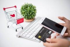 Online zakupy pojęcie Fotografia Stock
