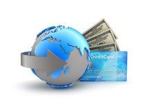 Online zapłaty - abstrakcjonistyczna ilustracja Obrazy Stock