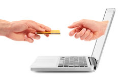 online zapłata Fotografia Stock
