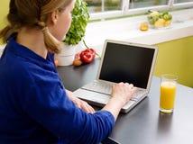 Online zu Hause Lizenzfreie Stockfotos
