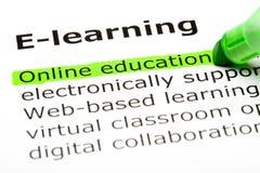 Onlineausbildung Stockfoto