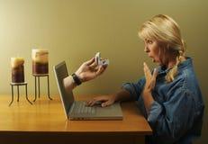 Onlinedatierung Lizenzfreies Stockfoto