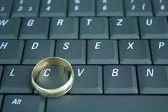 Onlinedatierung und Betrug Lizenzfreie Stockfotos
