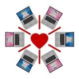 Onlinedatierungs-Netz Lizenzfreie Stockbilder