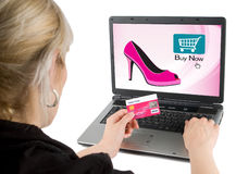 Onlineeinkaufen Stockfotografie