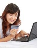 Onlineeinkaufen Lizenzfreies Stockfoto