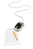 Onlineeinkaufen Lizenzfreies Stockbild