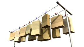 Onlineeinkaufen-Perspektive Lizenzfreie Stockbilder