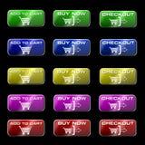 Onlineeinkaufen-Tasten Stockfotos