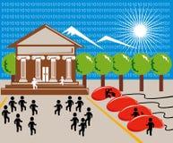 Onlineeinkaufen und Bankverkehr Stockfotografie