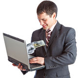 Onlinegeld Lizenzfreies Stockbild