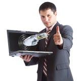 Onlinegeld ist OKAY Lizenzfreies Stockfoto