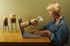 Onlinegeschäft Lizenzfreies Stockfoto