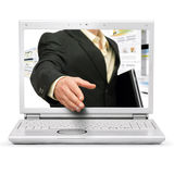 Onlinegeschäftsabkommen Lizenzfreies Stockfoto