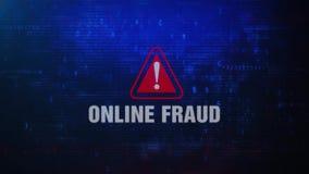 Onlinego oszustwa ostrzeżenia błędu wiadomości Ostrzegawczy mruganie na ekranie ilustracji