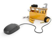 Onlinehilfsmittel, technischer Support Stockfotos