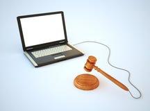 Onlineinternet-Auktion, die Konzept bietet Lizenzfreie Stockfotografie