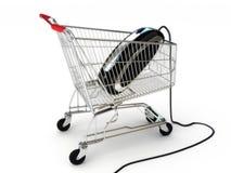 Onlineinternet-Einkaufen Lizenzfreies Stockbild