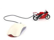 Onlineinternet-Motorrad Stockfotografie