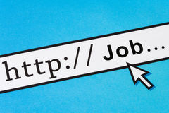 Onlinejob-Suchen stockfotos