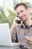 Onlinekauf stockfoto