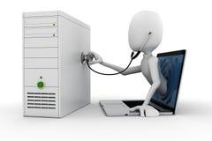 Onlinekonzept der unterstützungs 3d Lizenzfreies Stockfoto