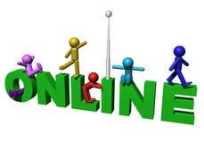 Onlineleuteabbildungen Lizenzfreies Stockbild