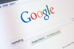 Onlinemarketing mit Google Lizenzfreies Stockbild