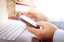 Onlinemarkt stockfoto