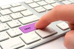 Onlinenachrichten Lizenzfreies Stockbild