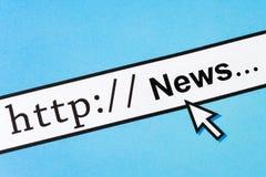 Onlinenachrichten Stockbild