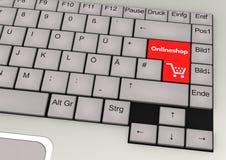 Onlineshop Keyboard Stock Photo