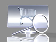 Onlineshop Search. 3d rendered Illustration Royalty Free Stock Images
