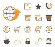 Onlineshop & sklep ikony - Iconset - royalty ilustracja
