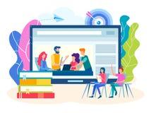 Onlinetraining, groepslessen, seminaries vector illustratie