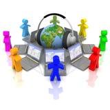 Onlinetrainingskonzept Lizenzfreies Stockfoto