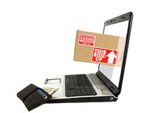 Onlineverschiffen Lizenzfreies Stockfoto