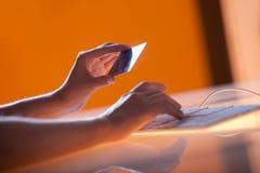 Onlinezahlung Stockbild
