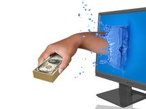 Onlinezahlung Lizenzfreies Stockbild