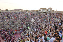 Onlookers on a concert in Arena of Verona Royalty Free Stock Image