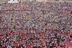 Onlookers on a concert in Arena of Verona Royalty Free Stock Photography