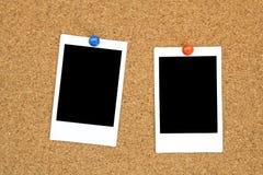 Onmiddellijk fotoframe op cork raad Stock Fotografie