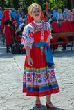 Onmiddellijk portret van Oekraïens meisje in traditioneel kostuum 1 Royalty-vrije Stock Fotografie