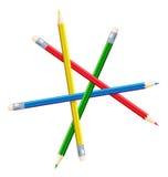 Onmogelijk cijfer van potloden. Stock Afbeelding