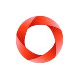 Onmogelijk Cirkelteken Abstract embleemontwerp Onmogelijk voorwerp Symbool voor embleemmalplaatje Vector illustratie vector illustratie